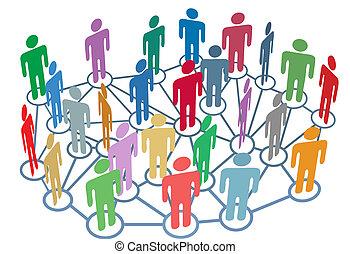 組, 网絡, 人們, 媒介, 社會, 很多, 談話