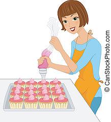 結冰, cupcake