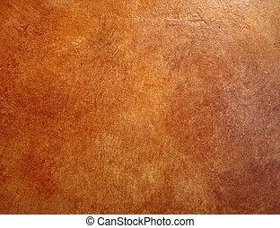 結束, 皮革, wall., 背景, faux, 紅色