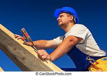 結构, 頂部, 木匠, 屋頂