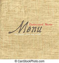 結構, 紙卡片, 老, 菜單, 設計