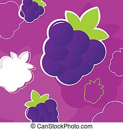 結構, 荒野, 黑莓, retro, 水果, 新鮮, 夏天, -, p, 背景