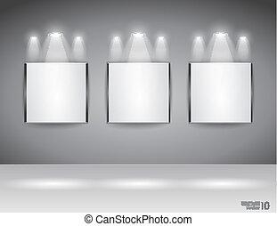 給予, 口號, 面板, 房間, 展覽