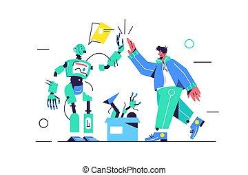 給, 其他, 5, 每一個, 機器人, 人, 電