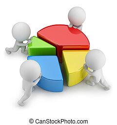 統計數字, 人們, -, 配合, 小, 3d