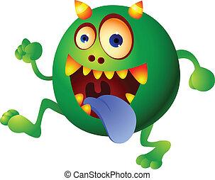 綠色的怪物, 卡通
