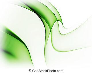 綠色的摘要, 動態, 白色 背景