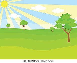 綠色的風景
