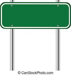 綠色, 空白, 交通標志