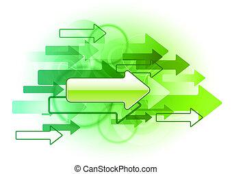 綠色, 箭