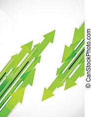 綠色, 箭, 背景