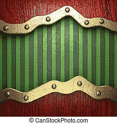 綠色, 金, 背景