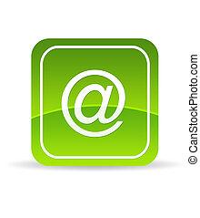 綠色, 電子郵件, 圖象