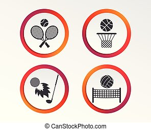 網球, basket., 籃球, ball., 球拍