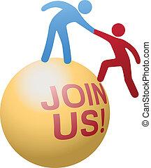 網站, 人們, 加入, 幫助, 社會