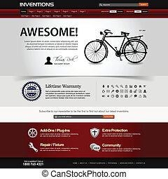 網站, 网設計, 樣板, 元素