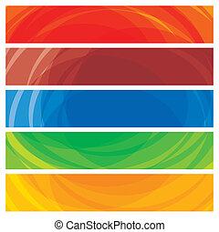 網站, 鮮艷, 這, templates-, 摘要, 條紋, 插圖, 旗幟, 標題, 矢量, 彙整, 包括, 表達, graphic., 藝術