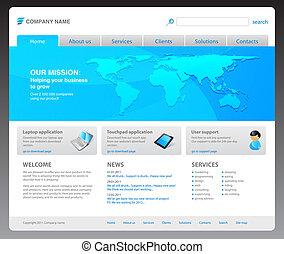 網站, 2011, 現代, 樣板