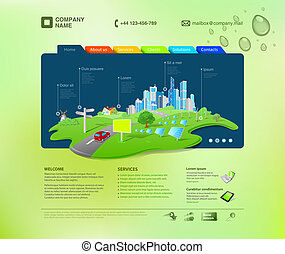 網站, template., infographics