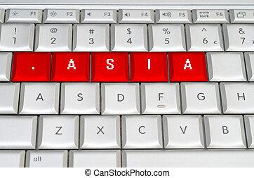 網際網路, 領域, 頂部, 水平, .asia
