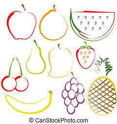 線藝術, 水果