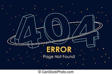 線, 矢量, 空間, 發現, 頁, 404, 背景, 錯誤, 不, 圖表