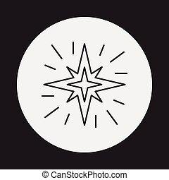 線, 空間, 星, 圖象