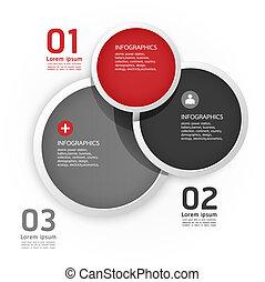 編號, 是, 圖表, 使用, 布局, 現代, 線, 環繞, /, 或者, 網站, 旗幟, 矢量, 設計, 罐頭, 樣板, infographics, cutout, 水平