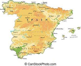 緩解地圖, 西班牙