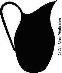 罐, 黑色半面畫像