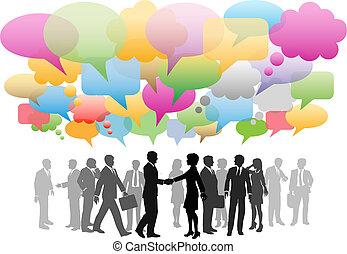 网絡, 事務, 媒介, 公司, 演說, 社會, 氣泡