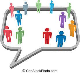 网絡, 人們, 媒介, 符號, 演說, 社會, 氣泡