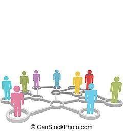 网絡, 商業界人士, 多种多樣, 連接, 社會, 或者