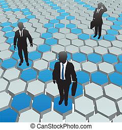 网絡, 商業界人士, 媒介, 社會, 六角形