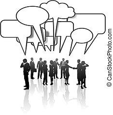 网絡, 商業界人士, 媒介, 通訊, 組談話