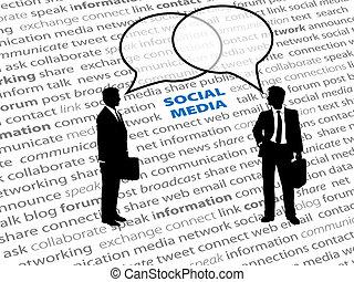 网絡, 商業界人士, 正文, 社會, 氣泡, 談話