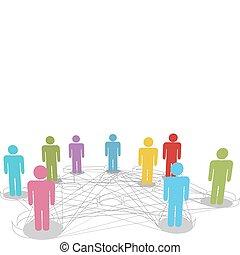 网絡, 商業界人士, 連接, 連接, 社會, 線