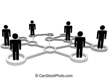 网絡, 商業界人士, 連線, 社會, 節點, 或者