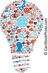 网絡, 圖象, 媒介, 符號, 燈, 社會