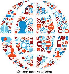 网絡, 圖象, 媒介, 符號, 社會, 世界