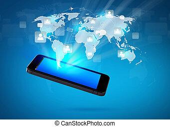 网絡, 机動的交流, 現代, 電話, 社會, 技術