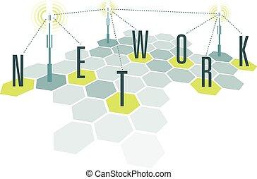 网絡, 通訊, 細胞, 信件
