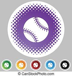 网, 按鈕, 棒球, 被隔离, 背景