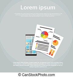 网, 財政, 圖表, 電話, infographics, 文件, 聰明