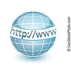 网, http, www, 全球, 網際網路