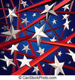 美國人, 條紋, 星