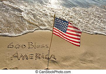 美國人, 海岸, 旗