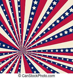 美國人, 鑲邊背景