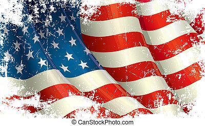 美國人, grunge, 旗
