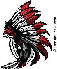 美國印地安人, 生來, 頭, 羽毛
